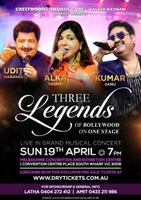 Three Legends of Bollywood - Live In Concert Melbourne 2020