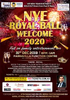 NYE ROYAL BALL WELCOME 2020