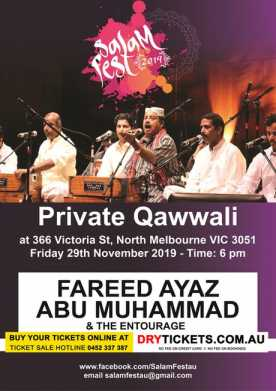 Private Qawwali - Salam Fest 2019 In Melbourne