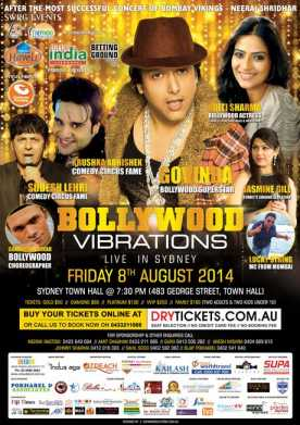 Bollywood Vibrations Live In Sydney
