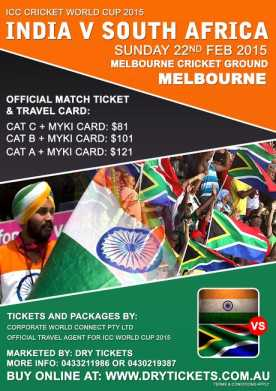 India vs South Africa Cricket World Cup 2015