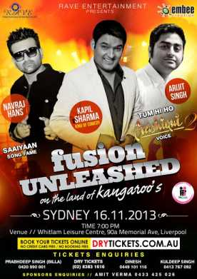 Fusion Unleashed Kapil Sharma in Sydney