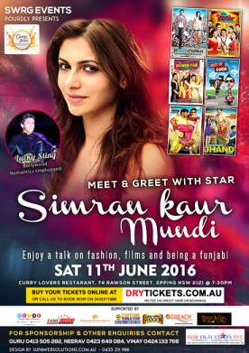 Meet & Greet with Star Simran Kaur Mundi
