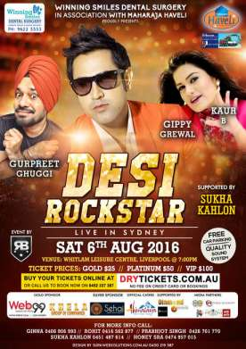 Desi Rockstar Live in Sydney 2016