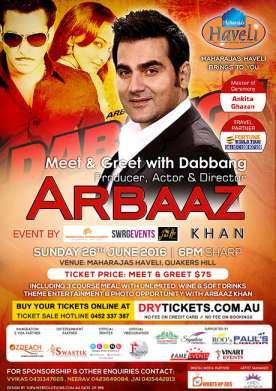 Meet & Greet Arbaaz Khan In Sydney