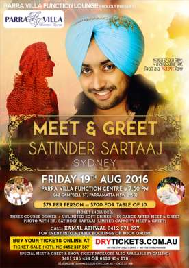 Meet & Greet with Satinder Sartaaj 2016