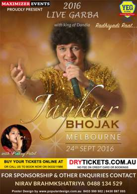 Jaykar Bhojak Dandiya Dhoom Melbourne