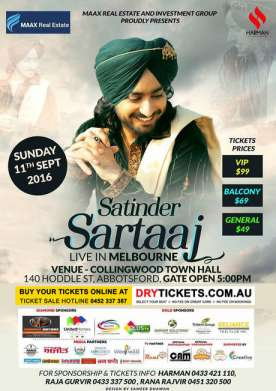 Satinder Sartaaj Live In Melbourne 2016