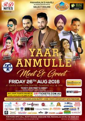 Meet & Greet - Yaar Anmulle - Live in Sydney 2016
