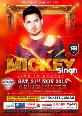 Mickey Singh Live In Sydney