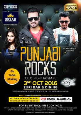 Punjabi Rocks Club Night In Brisbane