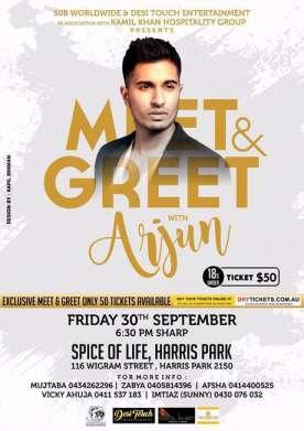 Meet & Greet Arjun In Sydney Under 18s 2016