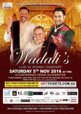 Wadali's Live In Concert Sydney 2016