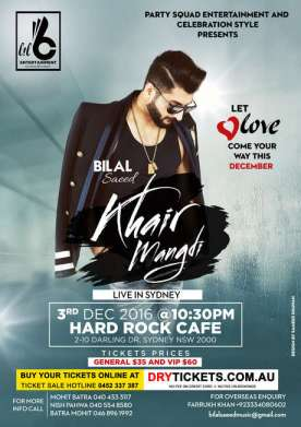 Bilal Saeed Khair Mangdi Live In Sydney 2016