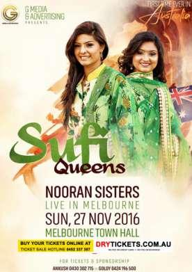Sufi Queens Nooran Sisters Live In Melbourne 2016
