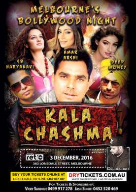 Melbourne Bollywood Night - KALA CHASHMA