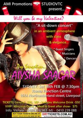 Pop Sensation Aiysha Saagar In Sydney