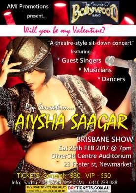 Pop Sensation Aiysha Saagar In Brisbane