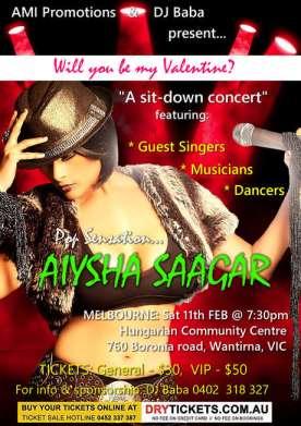 Pop Sensation Aiysha Saagar In Melbourne