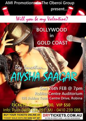 Pop Sensation Aiysha Saagar In Gold Coast