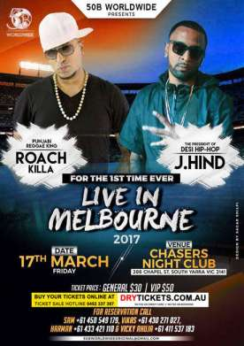 Roach Killa & J.Hind Live In Melbourne 2017