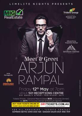 Meet & Greet Arjun Rampal In Melbourne