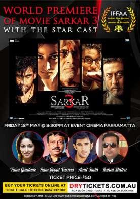 World Premiere of Movie Sarkar 3 In Sydney