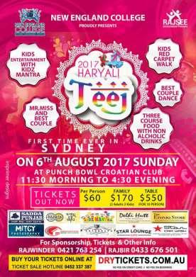 Haryali Teej 2017 In Sydney
