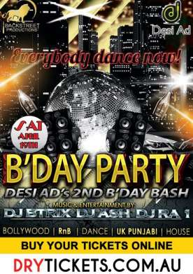 B'Day Party Desi Ad's 2nd B'day Bash