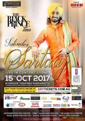 The Black Prince Tour - Satinder Sartaaj Live In Sydney 2017