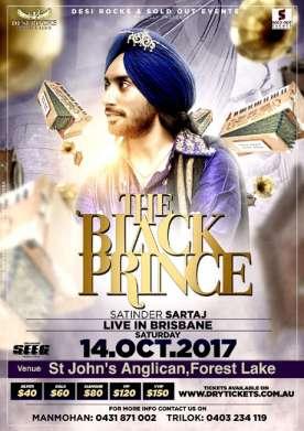 The Black Prince Tour - Satinder Sartaaj Live In Brisbane 2017