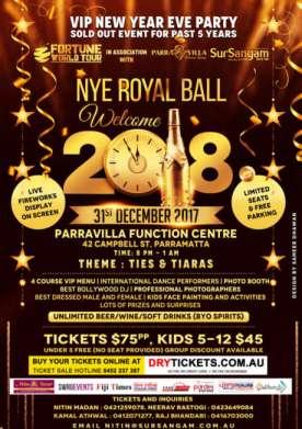 NYE Royal Ball - Welcome 2018