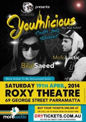 Youthlicious Bilal Saeed Sydney Live
