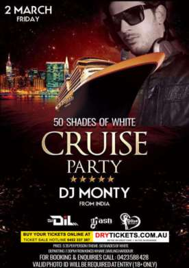 50 Shades of White - Cruise Party In Sydney