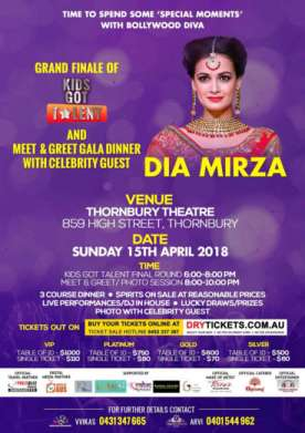 Kids Got Talent and Meet & Greet Dia Mirza In Melbourne