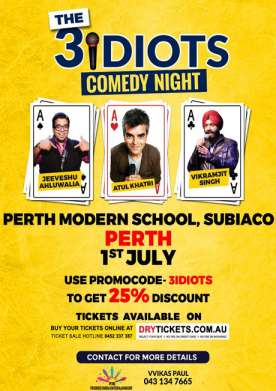 The 3 Idiots Comedy Night In Perth