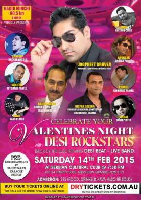 Valentines Night with Desi Rockstars