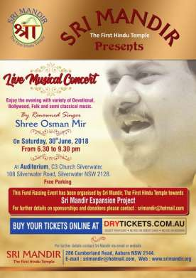 Shree Osman Mir Live Musical Concert In Sydney