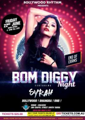 Bom Diggy Night Syrah Live In Melbourne