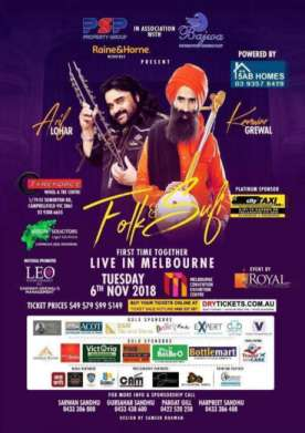 Folk & Sufi Collaboration Arif Lohar & Kanwar Grewal In Melbourne