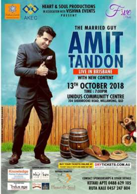 Amit Tandon Live In Brisbane 2018