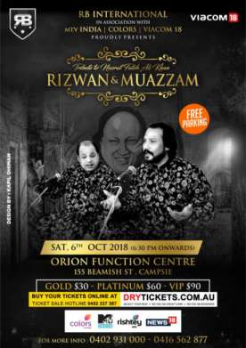 Tribute to Nusrat Fateh Ali Khan by Rizwan-Muazzam In Sydney