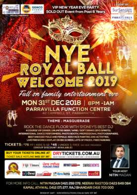 NYE ROYAL BALL WELCOME 2019