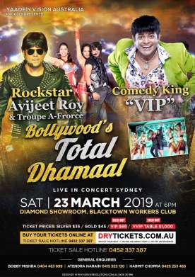 Bollywood's TOTAL DHAMAAL Live In Concert Sydney