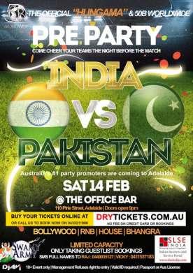 Pre Party India vs Pakistan