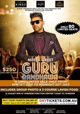 Meet & Greet with Guru Randhawa In Sydney