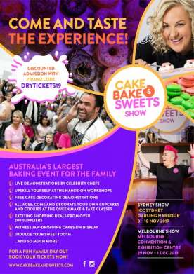 Cake Bake & Sweets Show - Melbourne 29 Nov - 1 Dec MCEC
