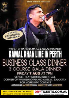 Kamal Khan Live in Perth