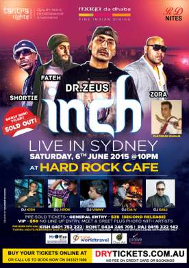 inch Live in Sydney