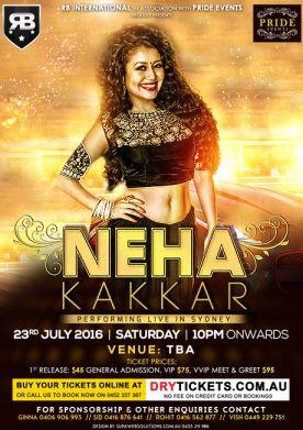 Neha Kakkar Performing Live in Sydney